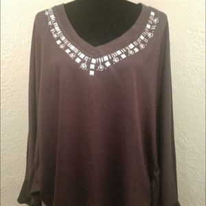 Poncho sweater top